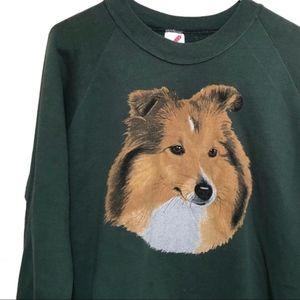 """Sweatshirt - Vintage Border Collie """"Lassie"""" Dog"""